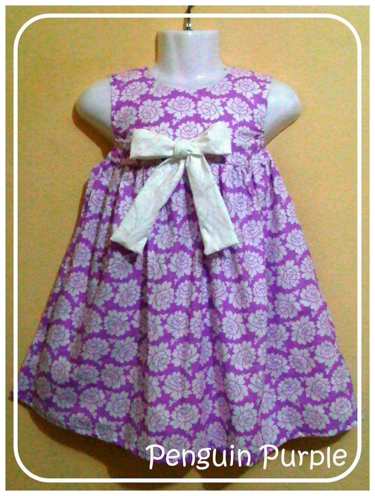 Baju Anak Perempuan Penguin Purple – jual baju anak perempuan harga